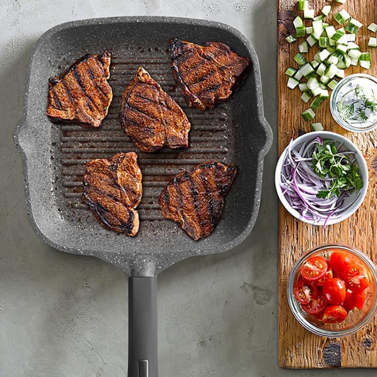 2016 Real New Professionelle Steak Pan 24 cm Multifunktionale Non - Küche, Essen und Bar - Foto 2