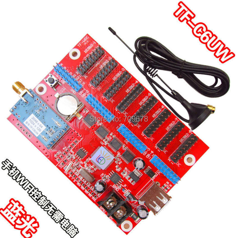 LongGreat TF-C6UW(TF-WF-C) WIFI communication LED Display Card Support USB Driver Updating Programme