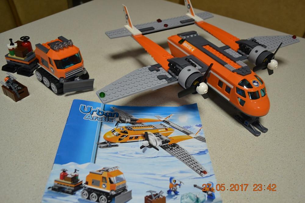 Bela 10441 Arctic Supply Plane Model building kits compatible with lego city 3D blocks Educational font