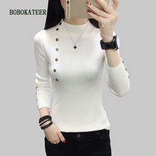 BOBOKATEER pull femme hiver clothes women turtleneck knitted pullover sueter mujer invierno 2019 christmas sweater winter