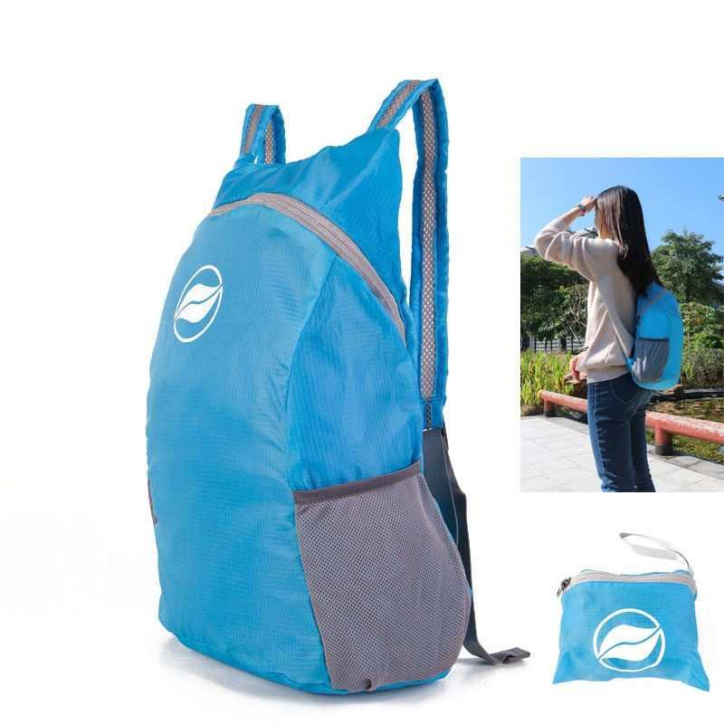Сверхлегкая переносная Повседневная сумка для мужчин и женщин Складная водостойкая сумка туристический рюкзак для путешествий
