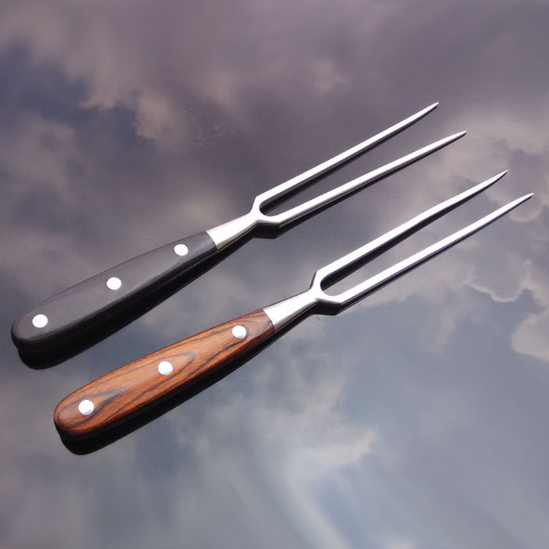 Fork Forged Full Metal Rivets Granny  Forks Stainless Steel Fork Carving tools Roasting fish fork BBQ cooking ZSP1220