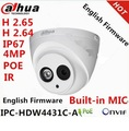 Dahua 4.0MP IPC-HDW4431C-A to replace IPC-HDW4300C Mini Dome IP Camera Built-in POE HDW4300C HD 1080P Network dome cctv Camera