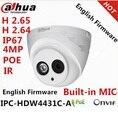 Dahua ipc-hdw4300c 4.0mp ipc-hdw4431c-a para reemplazar mini domo ip cámara hdw4300c incorporado poe hd 1080 p red domo cctv cámara
