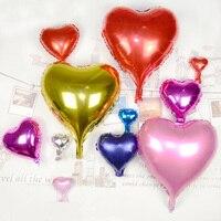 10 Pcs Balloons Aluminum Film Romantic 18 Inches Love Heart Birthday Party Decoration Inflatable Balloon Wedding