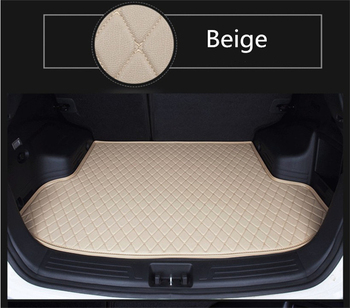 Auto Cargo Liner Trunk Mats For Audi A4 2016 2017 Car Boot Mat High Quality Brand New Embroidery Leather