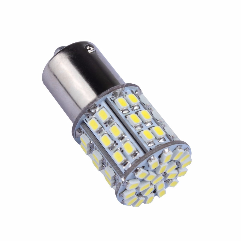 10X 1157 BAY15D S25 64 SMD 1206 LED Cold White Car Signal Light Bulb 12V DC