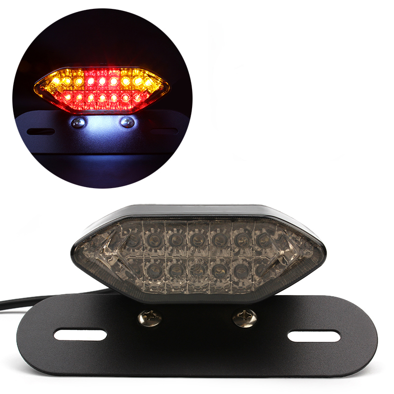 Universal Motorcycle LED Brake Turn Signal Lights Integrated Tail Lamps Motorbike Reversing Indicator Accessories Styling Harley 12v 3 pins adjustable frequency led flasher relay motorcycle turn signal indicator motorbike fix blinker indicator p34
