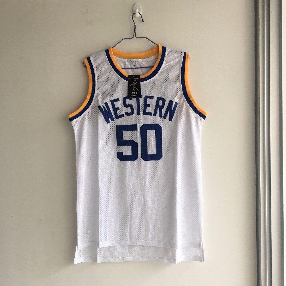 цена на LIANZEXIN Western University White Basketball Jerseys NO.50 Boudeaux Jersey For Sale Good Quality