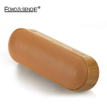 EDWO XC-Z3 Hot Wooden Portable Wireless Bluetooth Speaker Handsfree MP3 TF USB AUX Stereo Music Player FM Radio For Cellphone PC