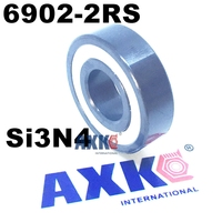 Free shipping 6902 2RS 61902 2RS full SI3N4 P5 ABEC5 ceramic deep groove ball bearing 15x28x7mm 6902 2RS