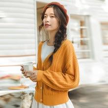 e547b3dfbd06 INMAN 2018 otoño nueva llegada dama mujer niña estilo suelto manga linterna  suéter de La Rebeca