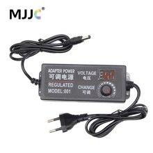 Transformer Power Supply AC 110V 220V to DC 12V 3V 5V 24V Adjustable Regulated Adapter with Display 3A LED Driver for LED Strip