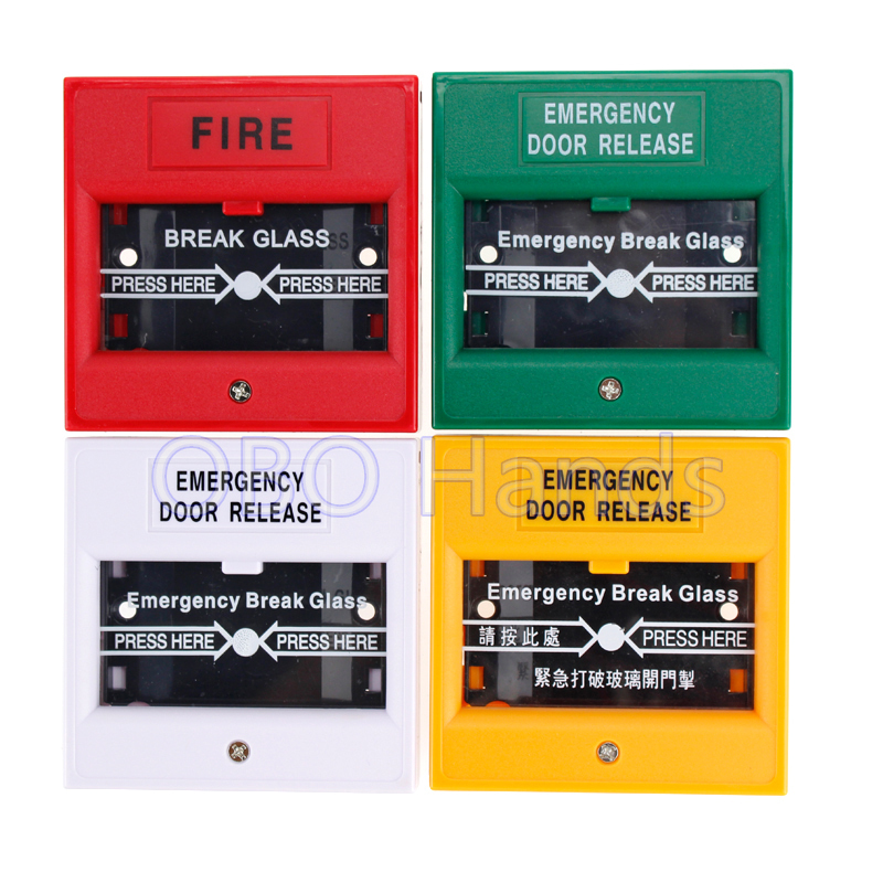 Free Shipping High Quality Emergency Door Release Door Exit Button Glass Break Alarm Button For Door Access Control System-BP