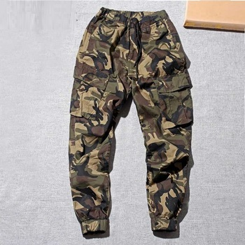 Summer Casual Joggers Men Multi Pocket Military Male Outdoors Long Trouser Army Camouflage Men's Cargo Pant Baggy Plus Size 4XL