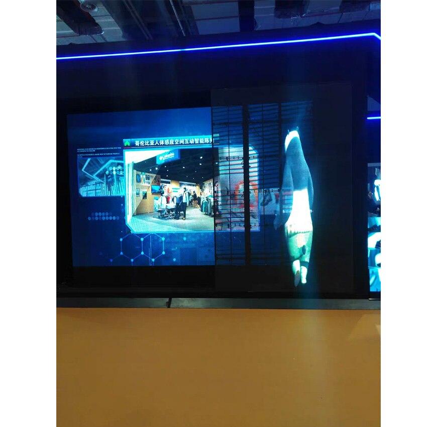 3.91mm ultra slim indoor transparency led mesh led transparent display