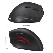 TeckNet Wireless Mouse 2.4GHz Nano Vertical Ergonomic Optical Mouse 3 Adjustable Levels 2000/1500/1000DPI 6 Buttons PC Computer