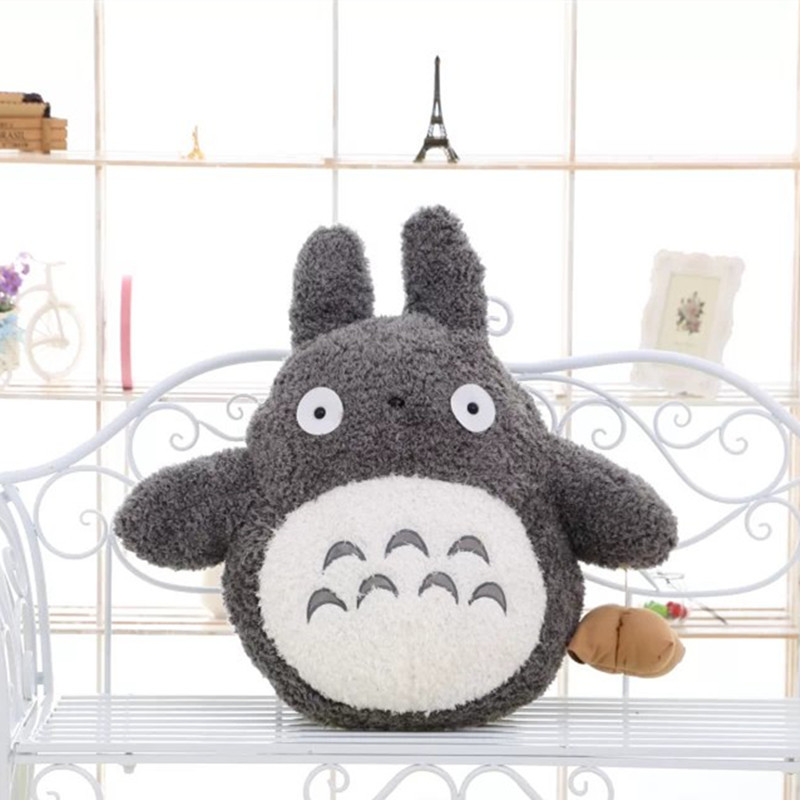 Free Shipping 35cm Soft Plush Toy Doll Cute Totoro Hayao Miyazaki Large Pillow Cushions Cartoon Doll Birthday Gift stuffed animal 120 cm cute love rabbit plush toy pink or purple floral love rabbit soft doll gift w2226