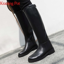 Equestrian-Boots Krazing-Pot Riding Thigh Designer Zipper High-Quality Buckle L13 Round-Toe