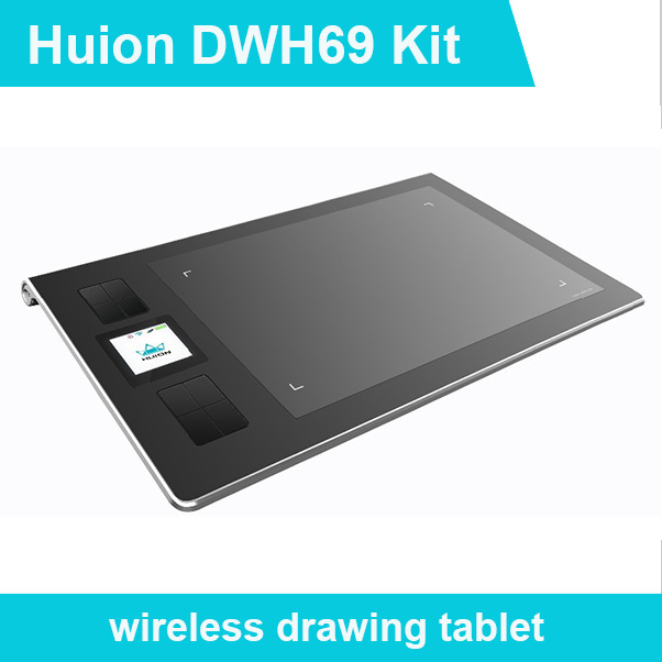 New Huion Dwh69 Genuine Wireless Graphics Tablet Drawing Tablets