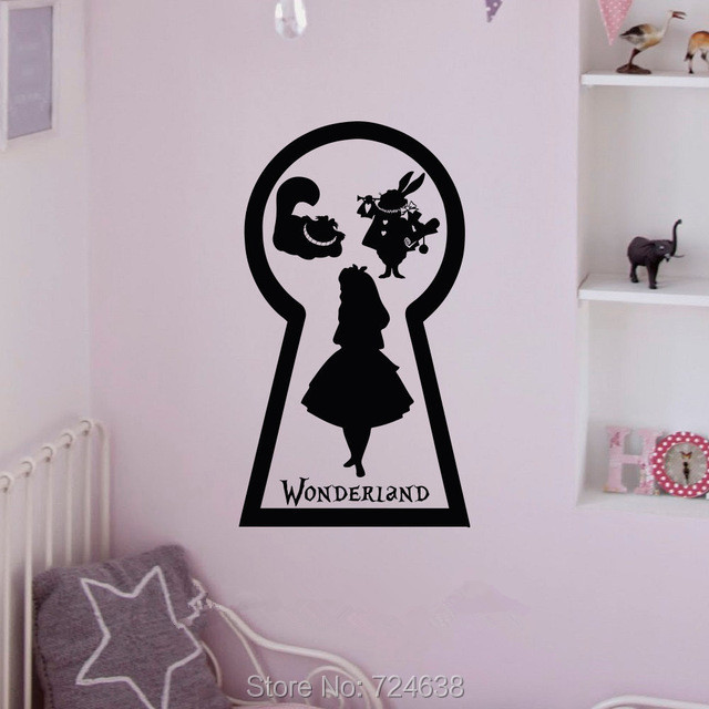 Alice In Wonderland Wall Art aliexpress : buy alice in wonderland cheshire cat silhouette