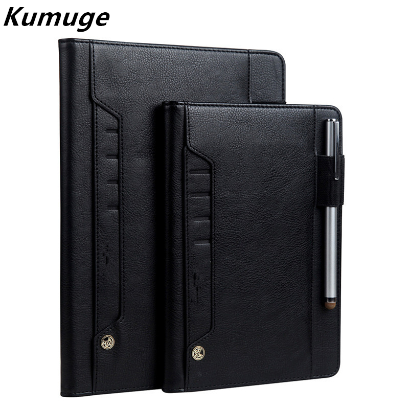 New Cover Case for iPad Air 1/2 Luxury Vintage Business Flip Card Holder Stand for iPad 5 iPad 6 Pro 9.7 Wake up Funda Capa Para case for funda ipad pro 12 9 luxury business leather case tablet 12 9 inch wake up hand belt holder stand flip bags alabasta