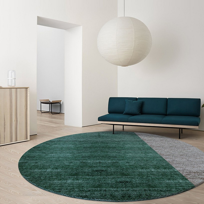 Nordic style dark green round shaped art living room carpet, big size bedside rug,Pastoral home decoration coffee table mat