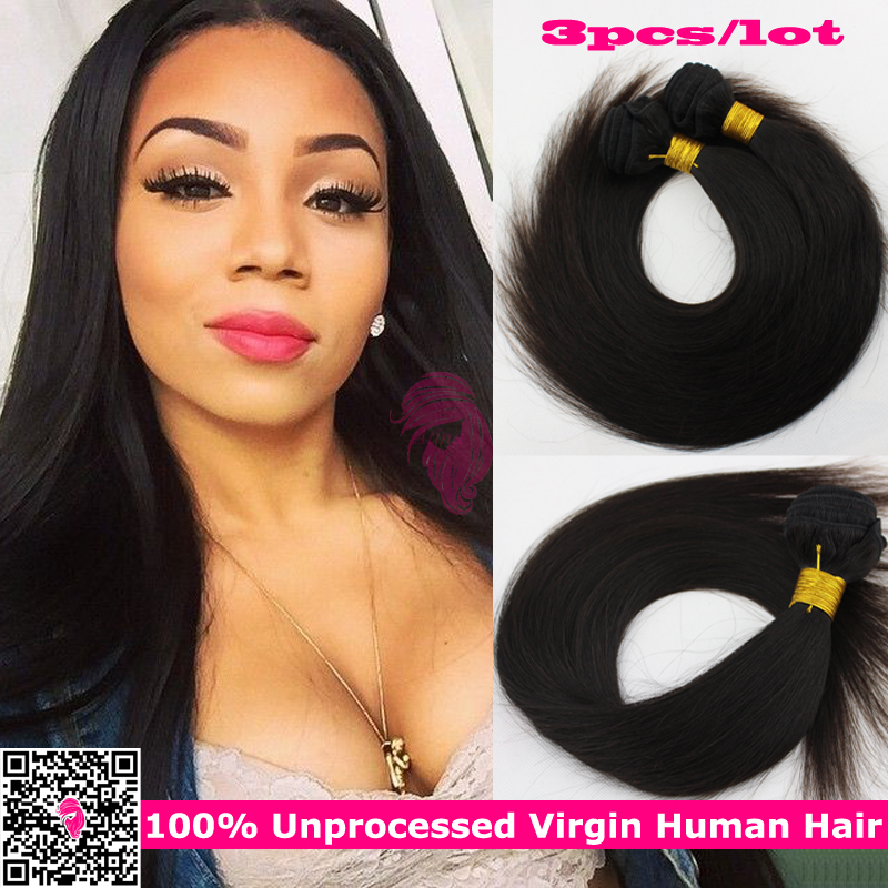 7a Unprocessed Russian Virgin Hair Straight Natural Russian Remy 100