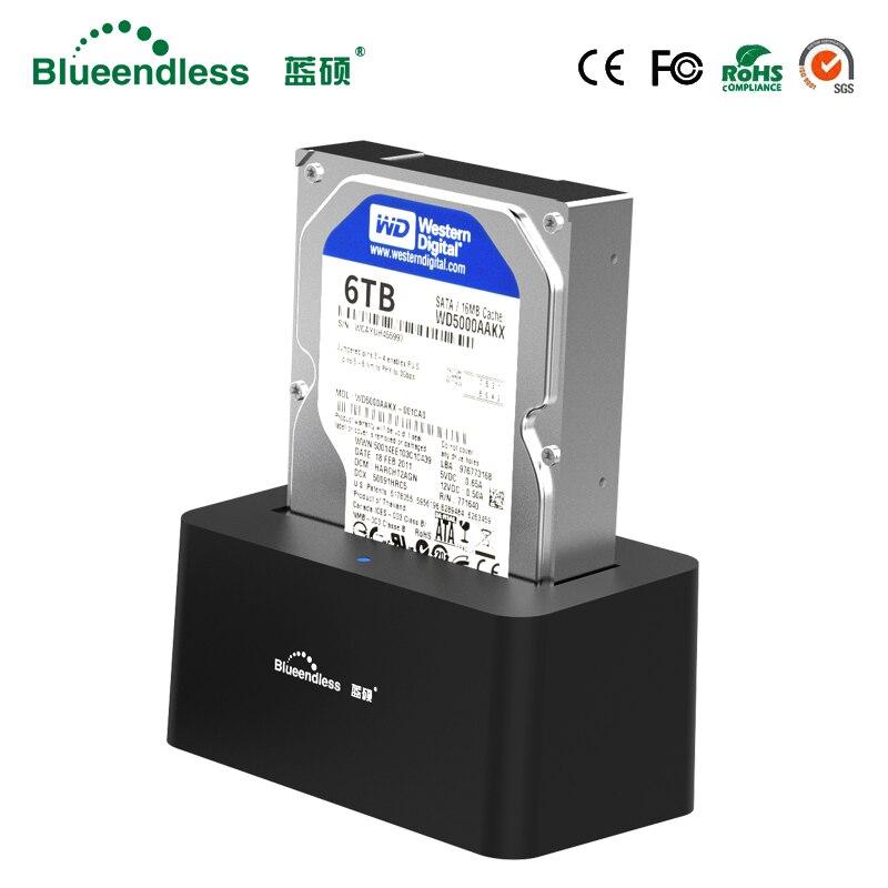 1-baie USB 3.0 à SATA3 jusqu'à 6 to Hdd Station d'accueil soutien 2.5 ''3.5'' pouces HDD avec 5 Gbps haute vitesse DC12V/2A alimentation - 6