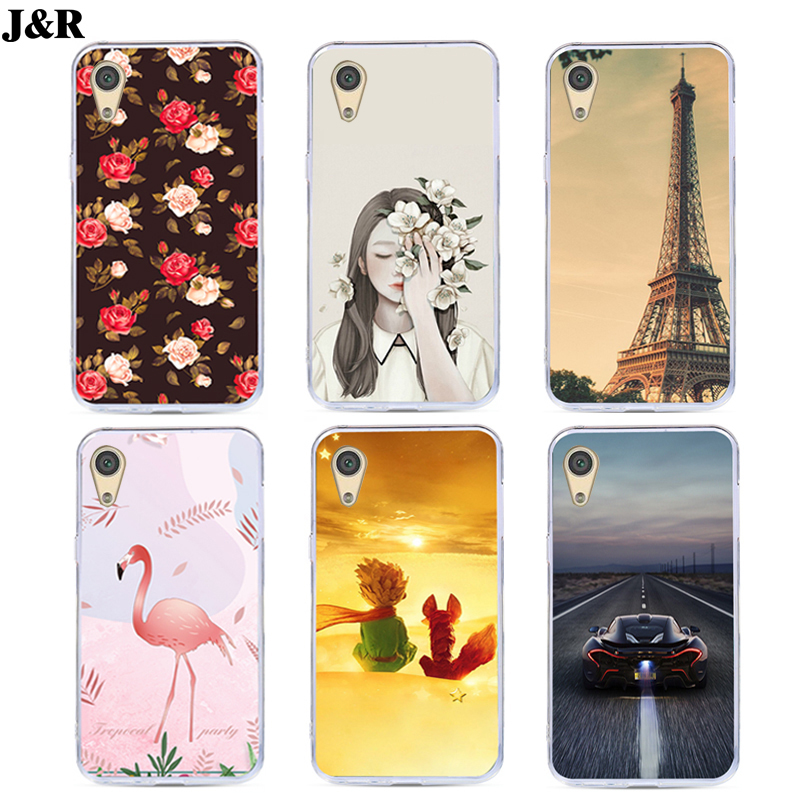 J&R Soft Silicone Phone Cover For <font><b>OnePlus</b></font> X <font><b>Case</b></font> One Plus X <font><b>E1001</b></font> E1003 Cover Flamingo Painted <font><b>Cases</b></font> Flower Plants Protective image
