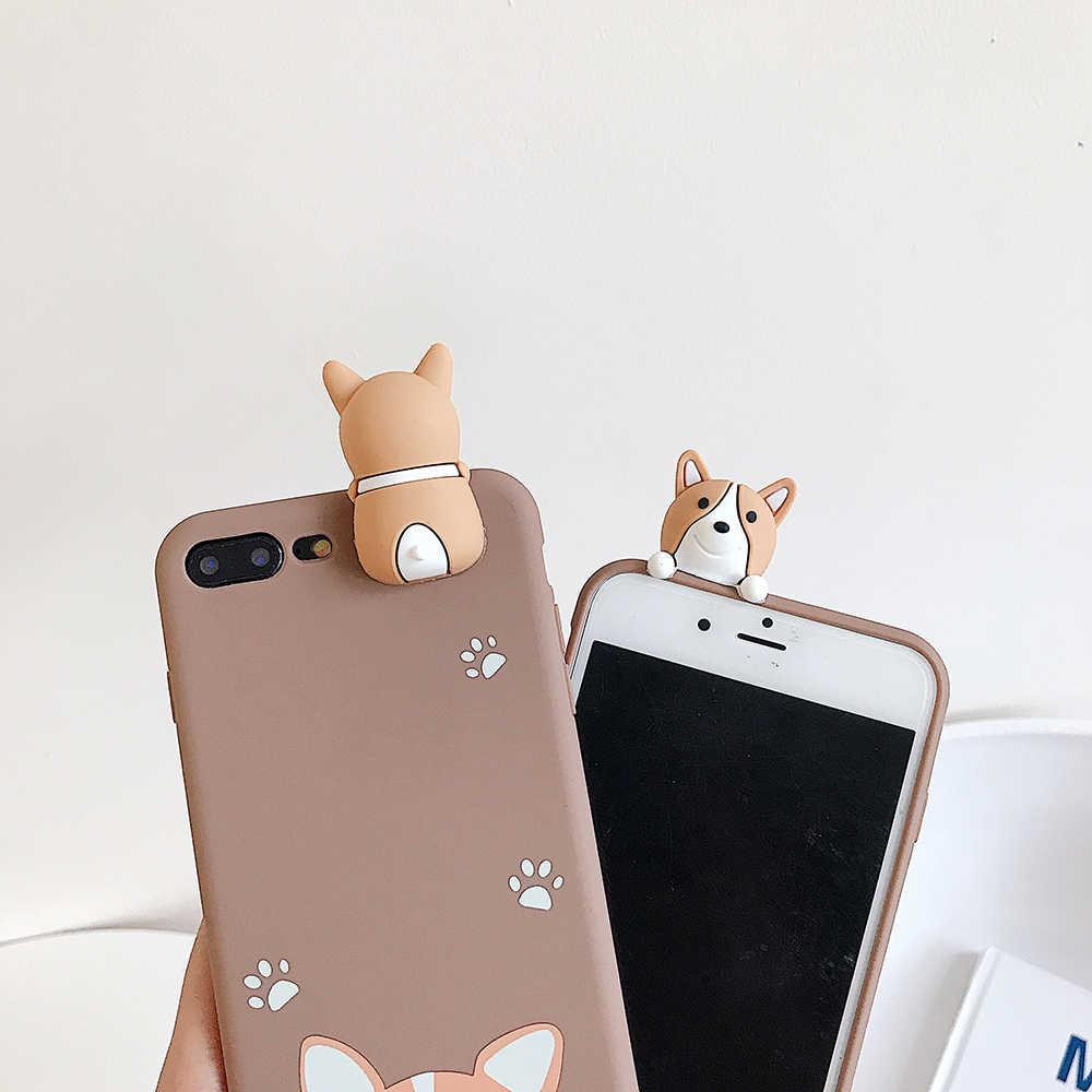 ويلش كورجي الكلب حافظة لينة تي بي يو جرو لعبة خزائن هاتف آيفون 11 برو X XS ماكس XR 6 6S 7 8 Plus غطاء حماية الحالات الهاتف Fundas