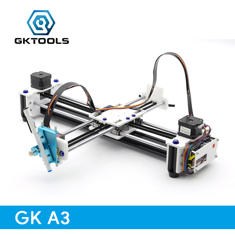 цена GK A3 DIY Drawbot Pen CNC Drawing Machine Lettering Writing Robot Corexy XY-plotter Drawing Robot Kit Drawing Toys
