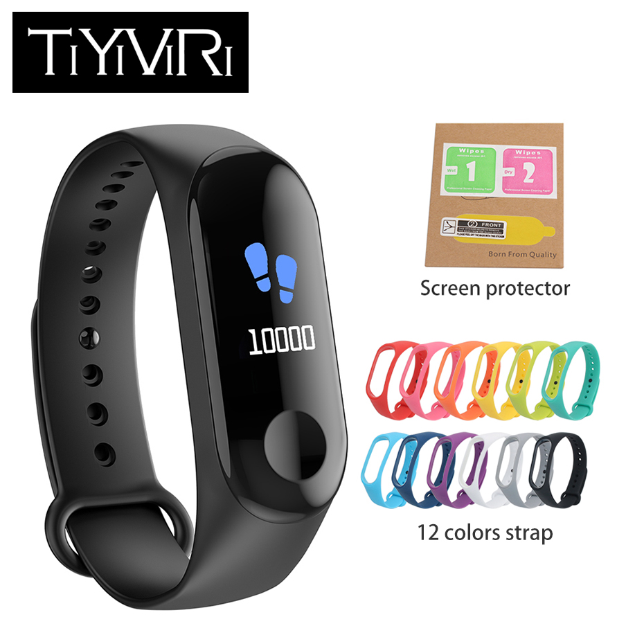 2018 New M3 Smart Bracelet 0.96 Screen Blood pressure Oxygen Heart Rate Monitor Fitness Tracker Smart Wristband PK mi band 3