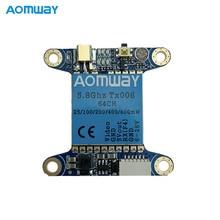 Aomway TX006 5.8 GHz 64CH 25 mW/100 mW/200 mW/400 mW/600 MW FPV เครื่องส่งสัญญาณ VTX สนับสนุน Betaflight OSD/Pitmode/สมาร์ทเสียง