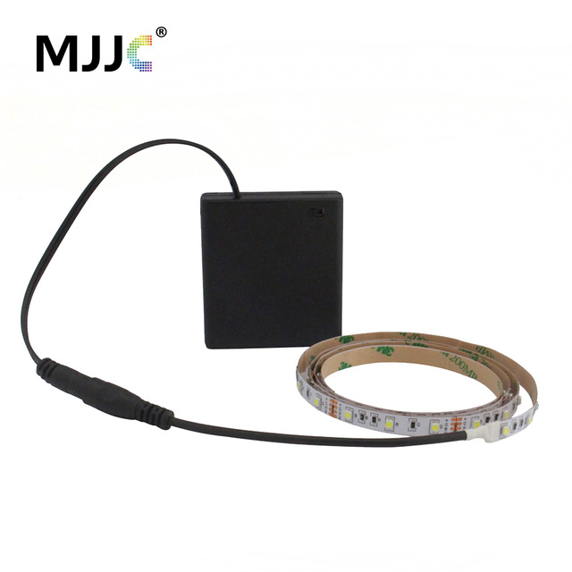 Battery Powered Led Strip Light 50cm 1m 2m 3m Adhesive Tape Lights