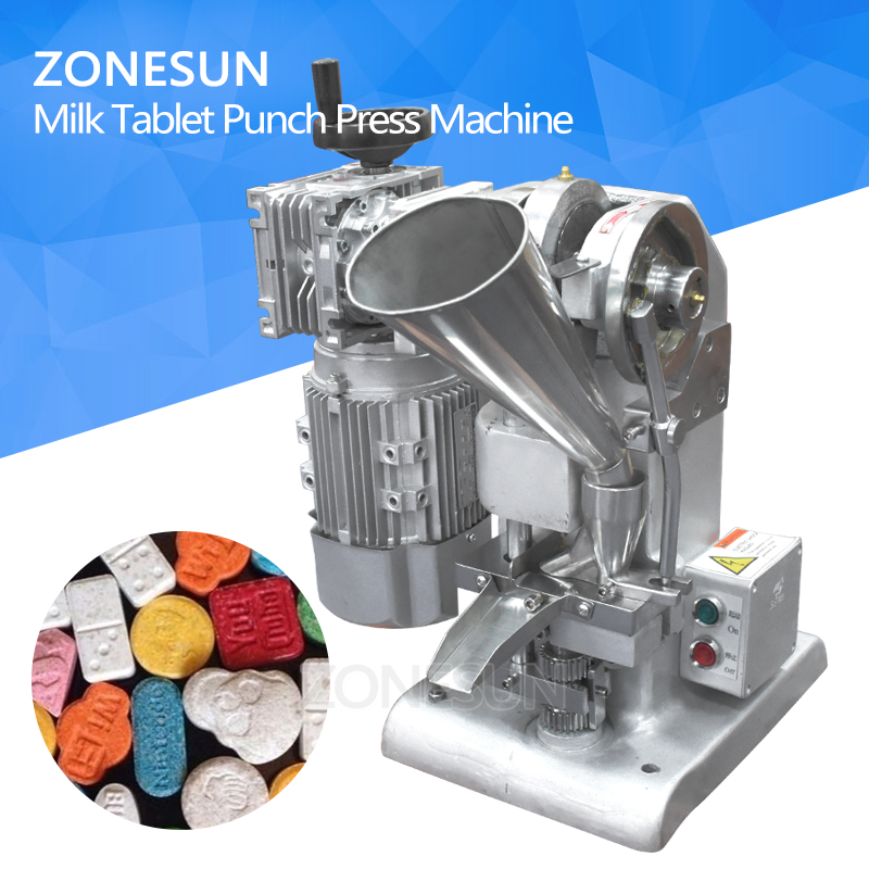 ZONESUN TDP1.5 Max 10mm Dia Tablet Making 5000 pc Per Hour 40KG Low Noise Type S Tablet Punch Press Machine DIY Mold manual metal bending machine press brake for making metal model diy s n 20012