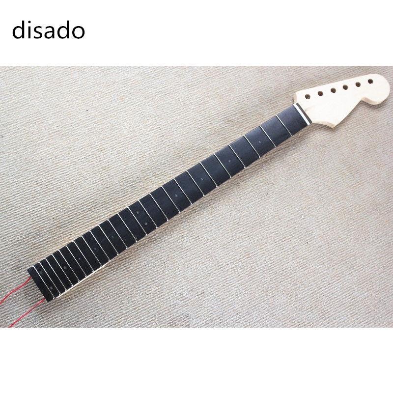 disado Inlay titik LED Rosewood Fretboard maple Electric Guitar Leher - Alat muzik