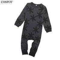Baby Boys Girls Autumn Romper Boy Girl Long Sleeved Jumpsuit Newborn Fashion Cotton Pajamas 2017 New