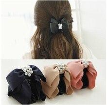 Новая Мода pearl миску волос когти клипы Женщины Волосы Когти заколки головные аксессуары 4 цветов выбранные бесплатная доставка