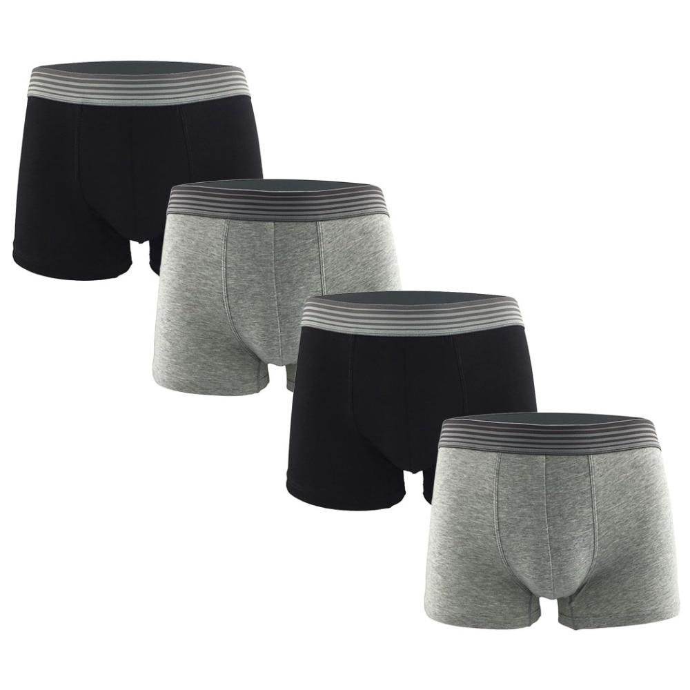 4Pcs Premium Soft Cotton Underwear Mens Long Leg Boxer Shorts Sexy Comfort Men Boxer Shorts Underpants Masculina Calzoncillos