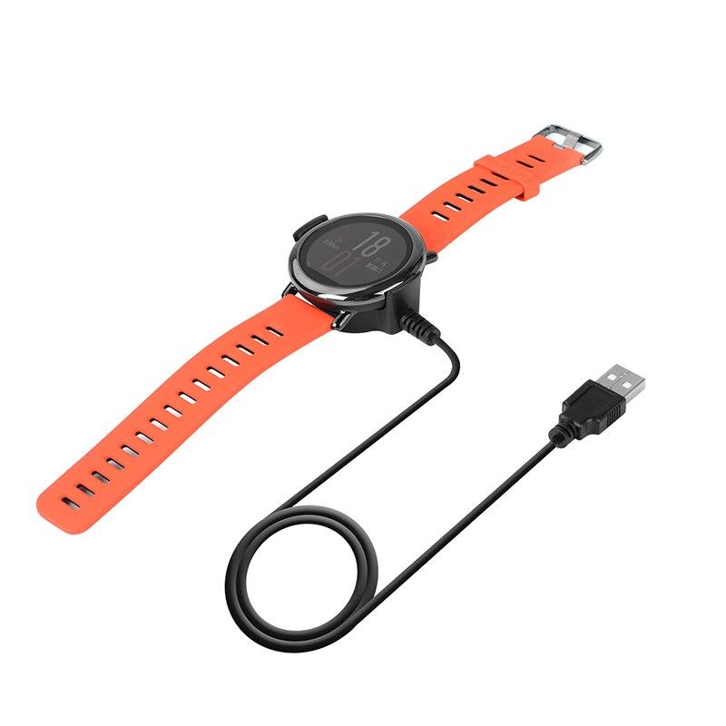 DHL livraison 50 pièces USB câble de charge pour Huami Amazfit 1st Gen Fitness montre intelligente 1 M longueur berceau cordon chargeur accessoires