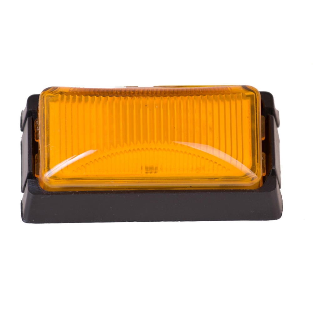 2Pcs 12V Car Styling 3 LED Side Markers for Trucks Buses Amber Red Trailer Lights For Ford Focus Ladan H4 Turn Signal Lamp ijdm amber yellow error free bau15s 7507 py21w 1156py xbd led bulbs for front turn signal lights bau15s led 12v