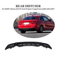 Углеродного волокна/FRP заднего бампера Выпускной диффузор для губ для BMW 2 серии F22 M Tech М Спорт 2 двери 2014 2017 автомобильные аксессуары