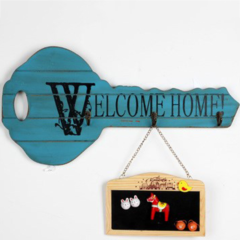 Decorative Hook For key Creative Wall Holder Hat/Bag/Jewelry Racks Key Shape Entrance Decor Hooks Clothes Towel Organizer Rack