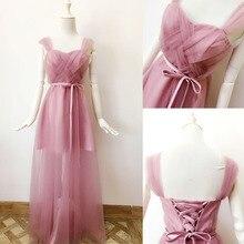 تصميم جديد فستان لوصيفات العروس طويل باللون الأحمر والوردي والأبيض والأسود بطول الأرض مناسب لحفلات التخرج وحفلات الزفاف للنساء من موديلات 960