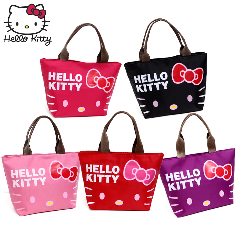 Hello Kitty Women Cartoon Cute Cosmetic Handbag Travel Wash Case Plush Wallet Girls Convenient Wrist Bag MakeUp Wash Beauty Girl