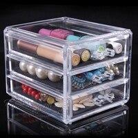 Transparent en plastique boîte de maquillage crayon à sourcils vernis à ongles huile boîte rouge à lèvres de stockage rack