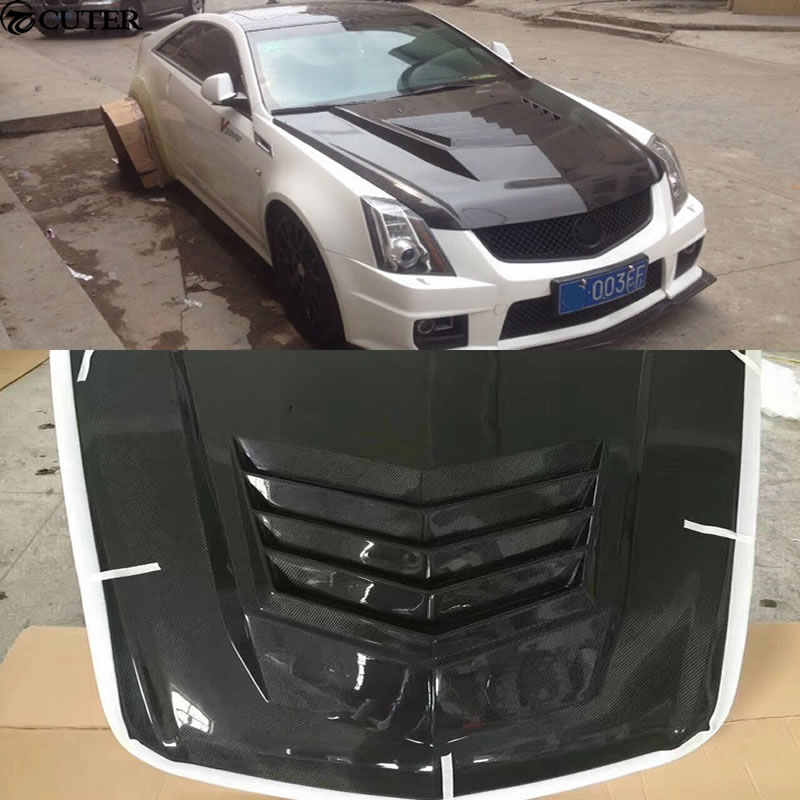 CTS Car body kit carbon fiber engine hood cover For Cadillac CTS 04-15
