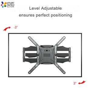 Image 4 - BEISHI 6 Arms TV duvar montaj aparatı tam hareket Tilt TV braketi 32  65 için takım elbise TV ekranı yüklemek 40kg VESA 400x400mm