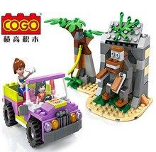 Cogo 14519 Dream girl Forest tourism Model Building blocks Minifigures action figures baby Toys for children
